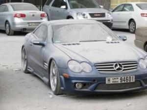 Dubai'de çöp olan lüks arabalar