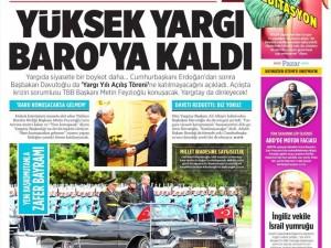 31 Ağustos 2014 gazete manşetleri