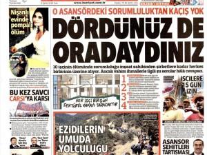 9 Eylül 2014 gazete manşetleri