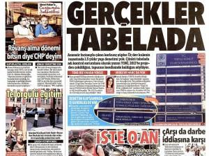 10 Eylül 2014 gazete manşetleri
