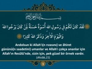 Hz. Muhammed (S.A.V)'i anlatan 40 ayet