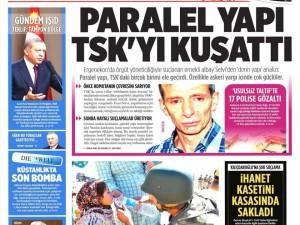 23 Eylül 2014 gazete manşetleri
