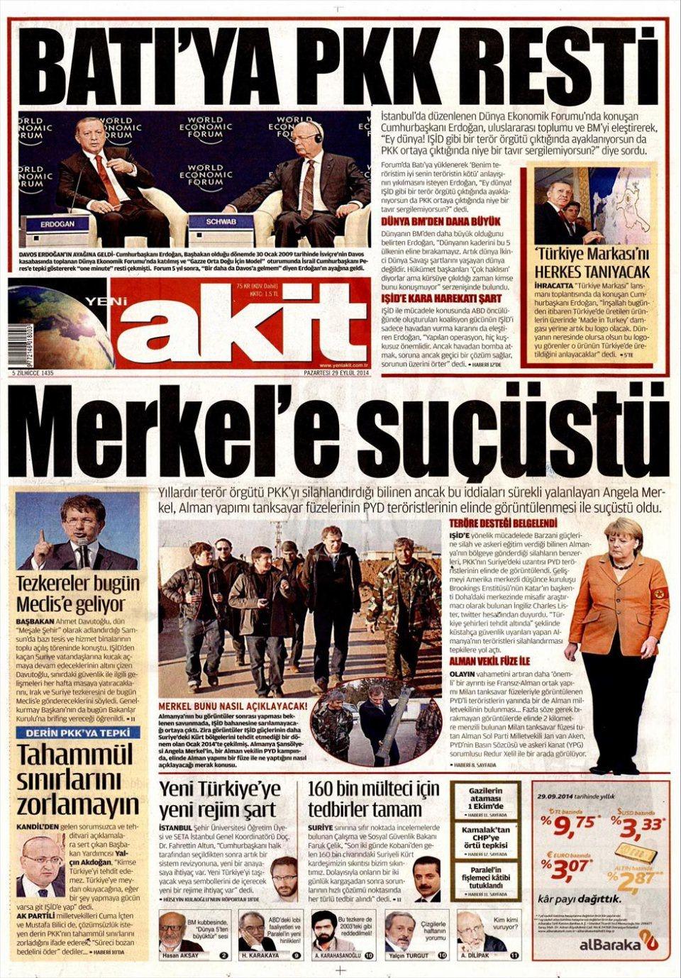 29 Eylül 2014 gazete manşetleri 23
