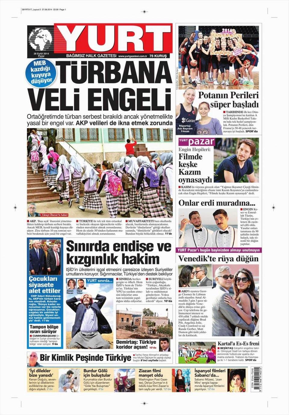 29 Eylül 2014 gazete manşetleri 26