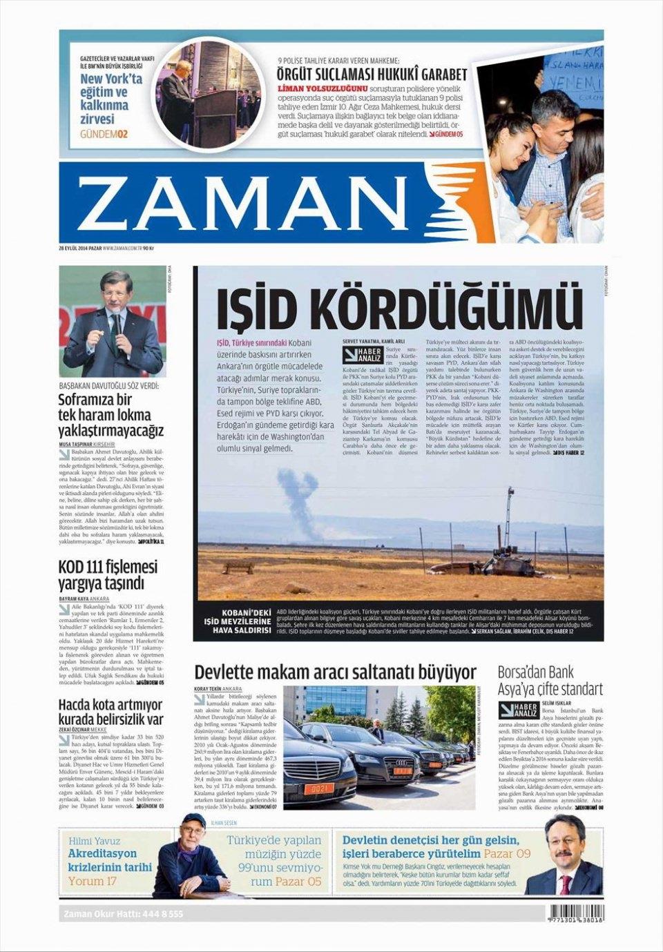 29 Eylül 2014 gazete manşetleri 27