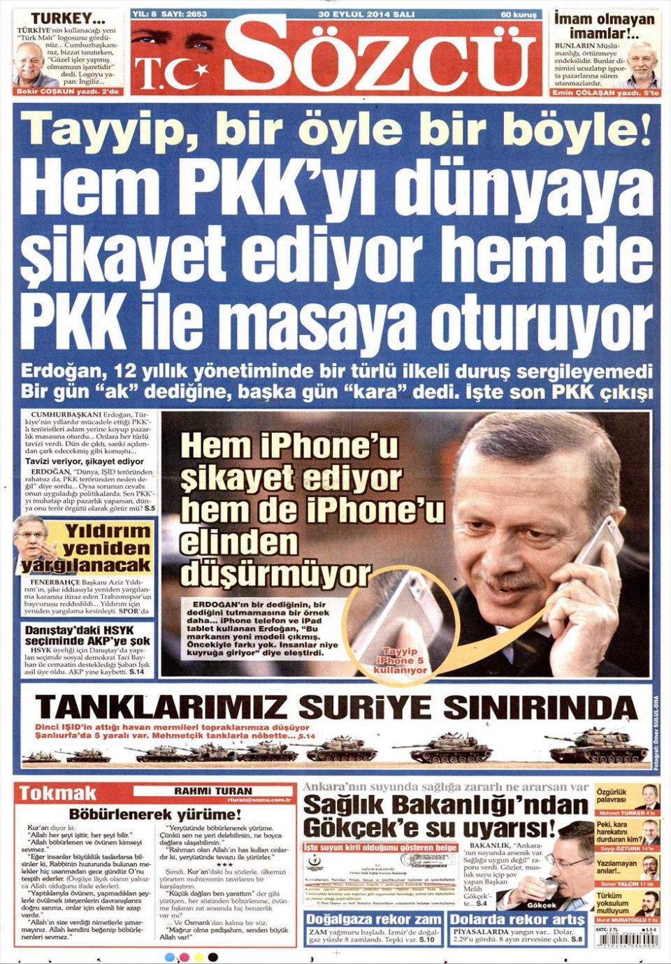 30 Eylül 2014 gazete manşetleri 17