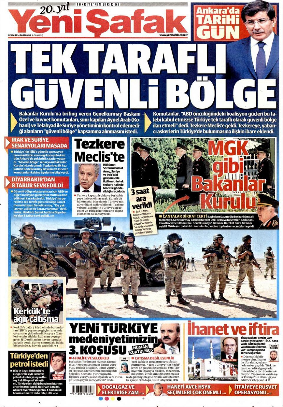 1 Ekim 2014 gazete manşetleri 24