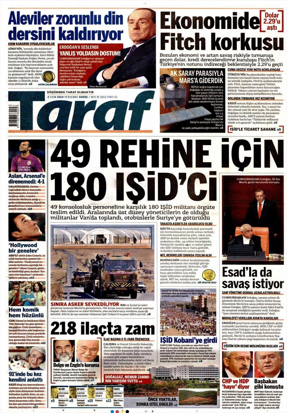 2 Ekim 2014 gazete manşetleri 19