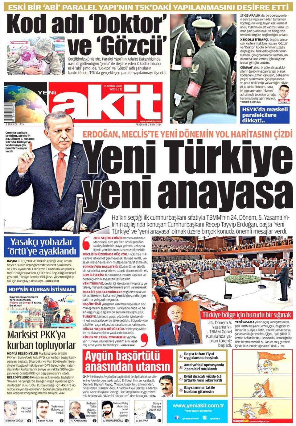 2 Ekim 2014 gazete manşetleri 23