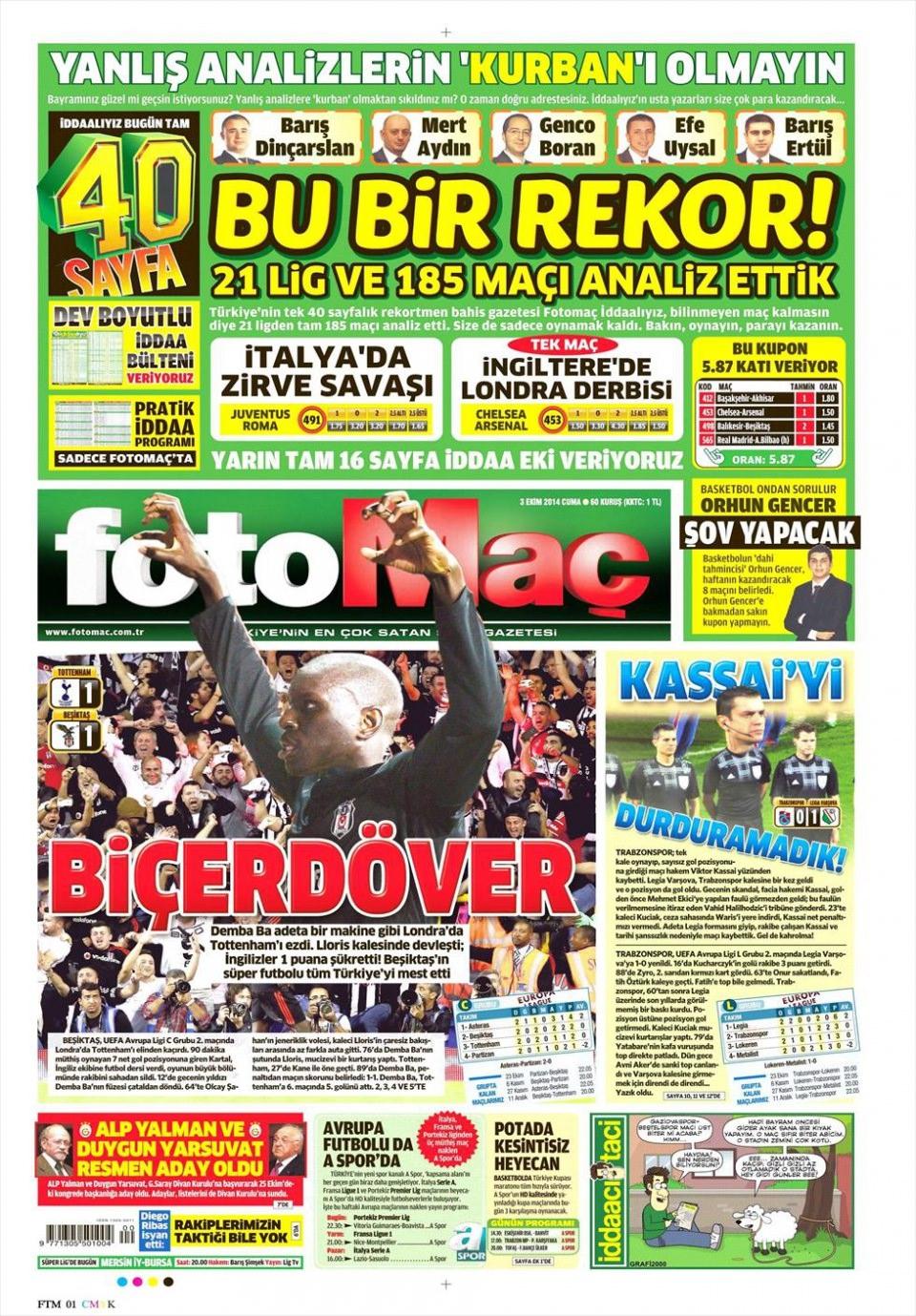 3 Ekim 2014 gazete manşetleri 7