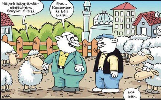 Birbirinden komik kurban karikatürleri 18