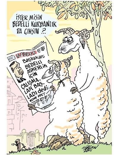 Birbirinden komik kurban karikatürleri 3