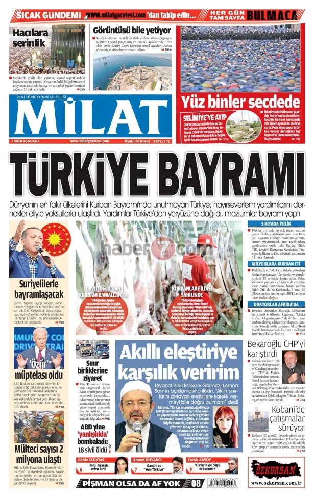 8 Ekim 2014 Günün gazete manşetleri 10