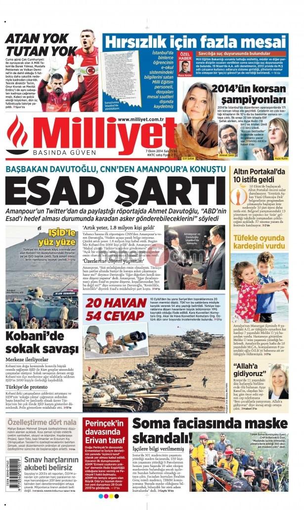 8 Ekim 2014 Günün gazete manşetleri 11