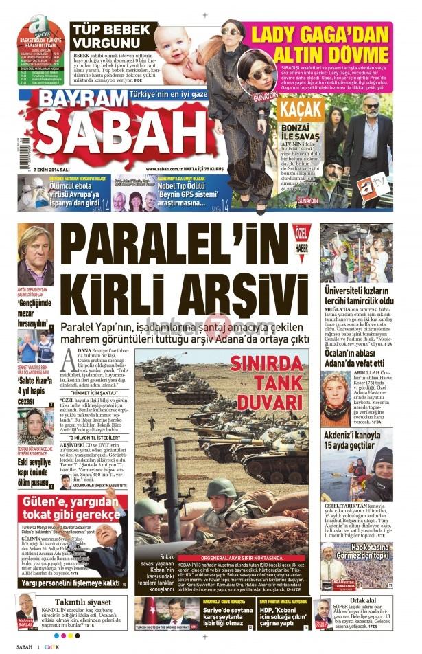 8 Ekim 2014 Günün gazete manşetleri 12