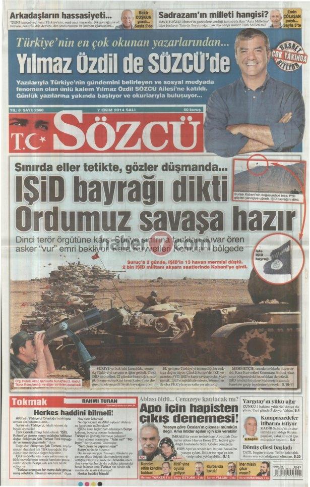 8 Ekim 2014 Günün gazete manşetleri 13