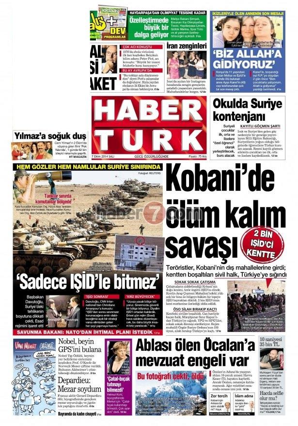 8 Ekim 2014 Günün gazete manşetleri 16