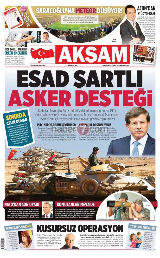8 Ekim 2014 Günün gazete manşetleri 2