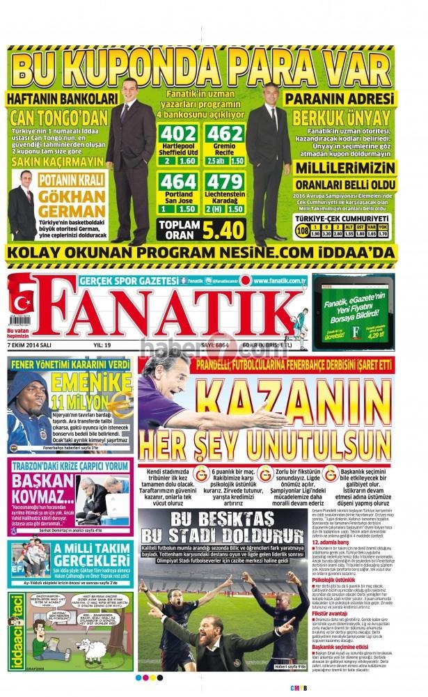 8 Ekim 2014 Günün gazete manşetleri 5