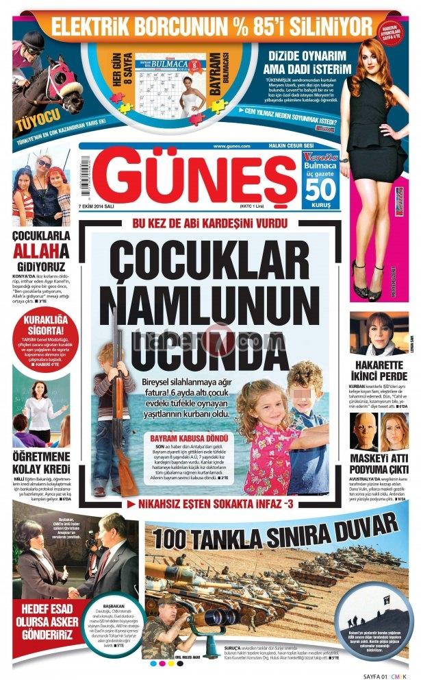 8 Ekim 2014 Günün gazete manşetleri 8