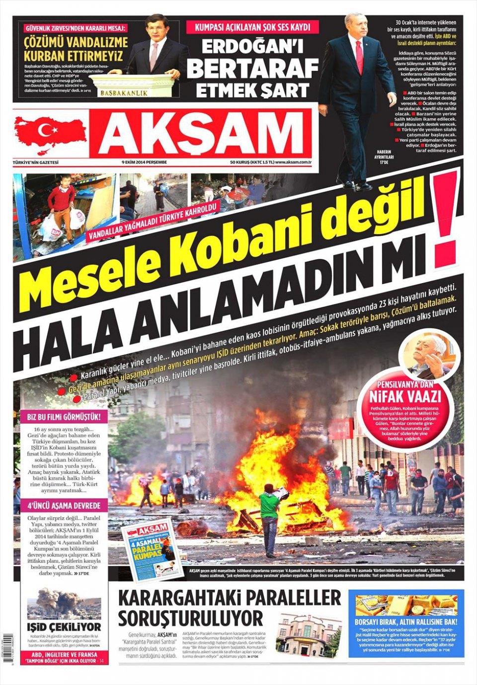 9 Ekim Gazete Manşetleri 1