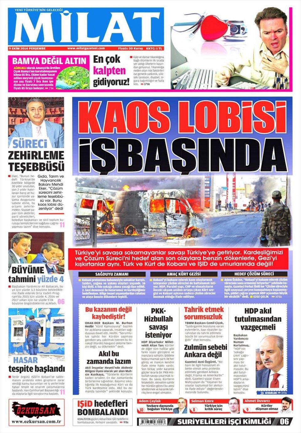 9 Ekim Gazete Manşetleri 10