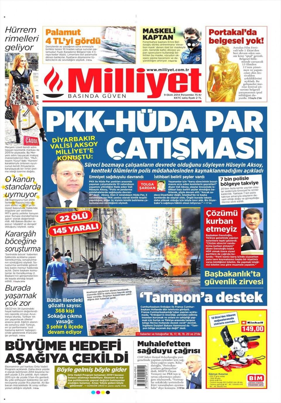 9 Ekim Gazete Manşetleri 12