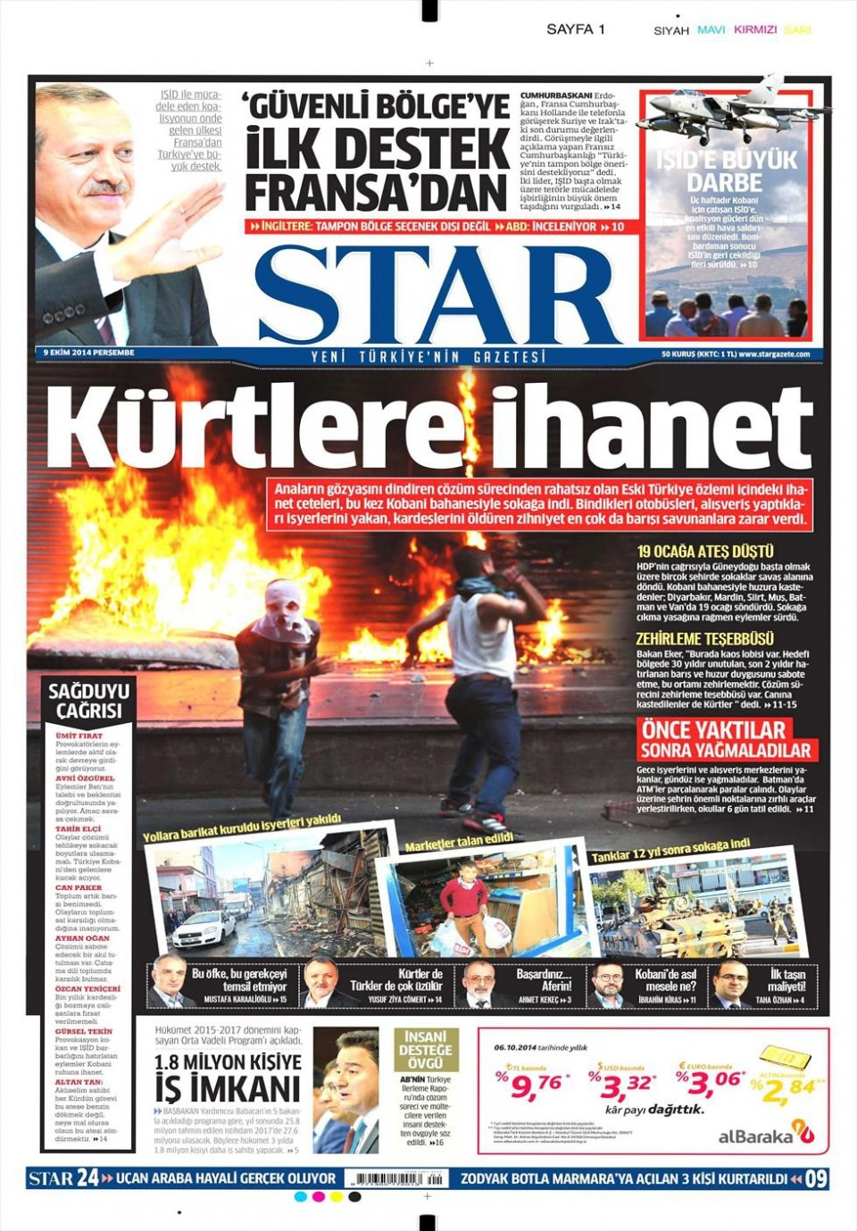 9 Ekim Gazete Manşetleri 17