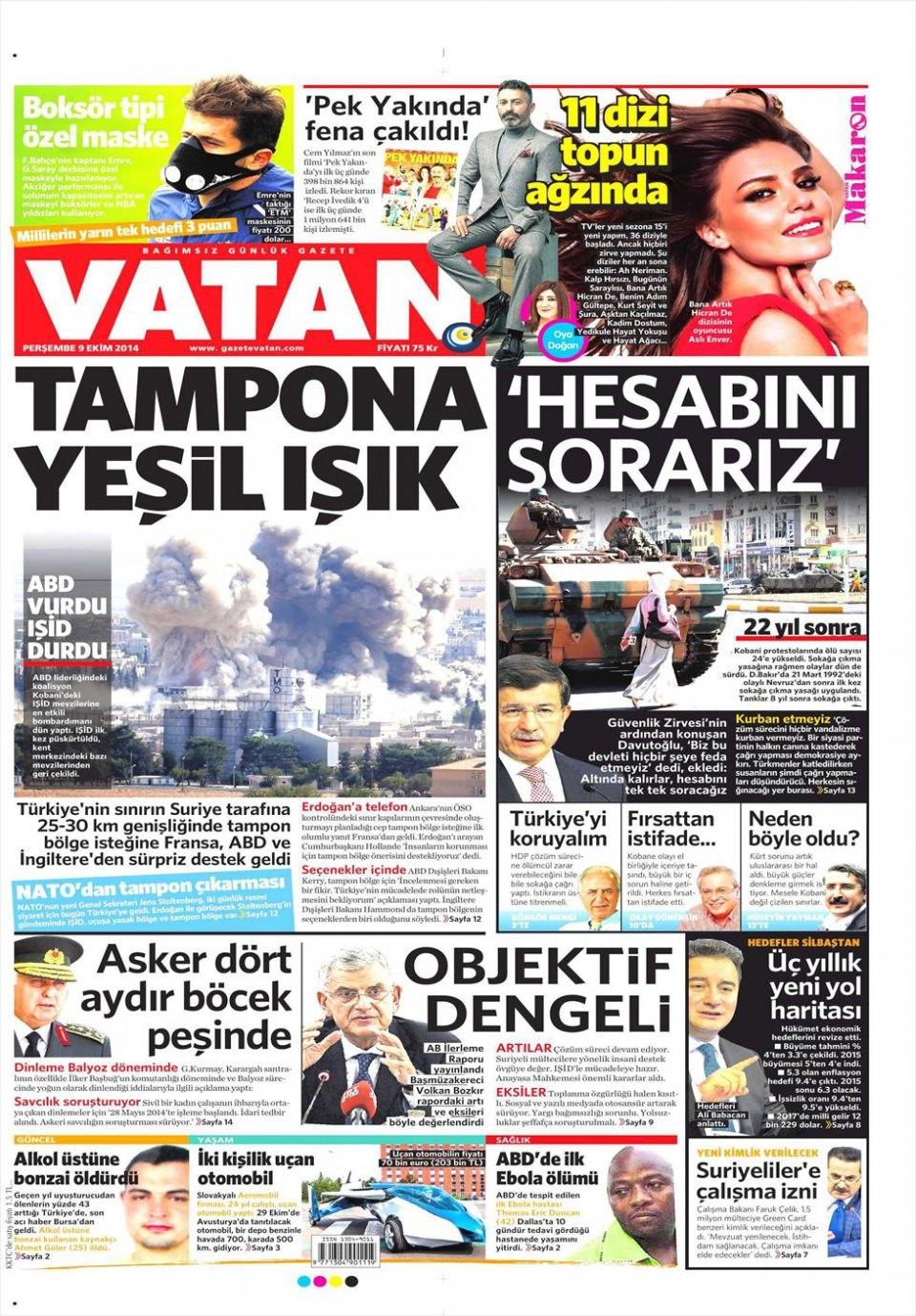 9 Ekim Gazete Manşetleri 21