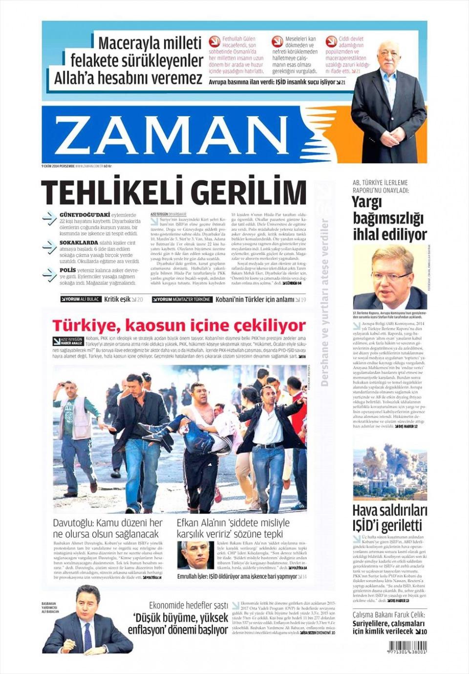 9 Ekim Gazete Manşetleri 24