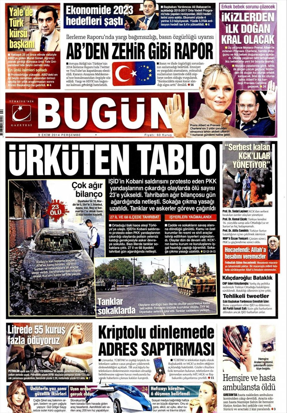 9 Ekim Gazete Manşetleri 3