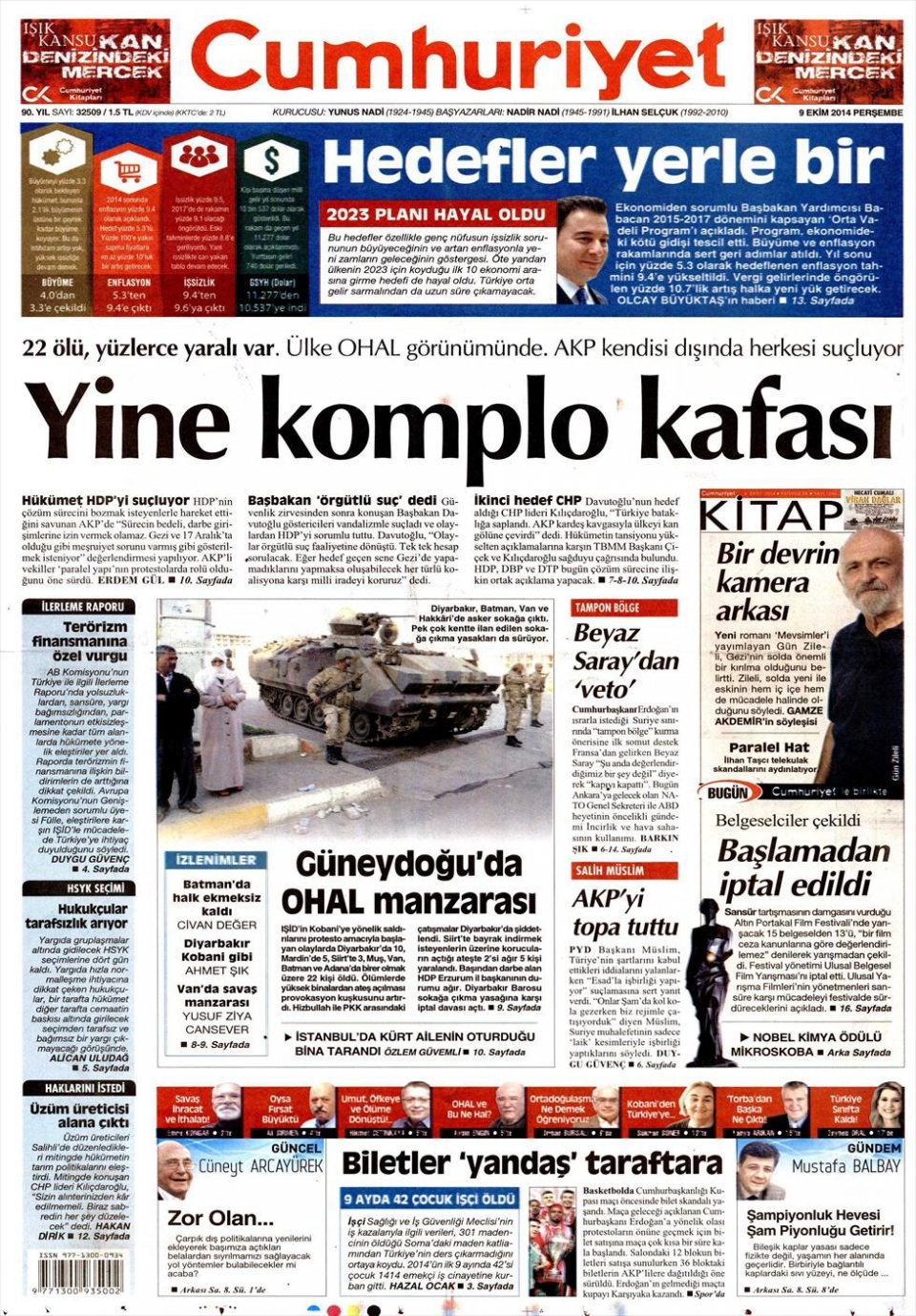 9 Ekim Gazete Manşetleri 4