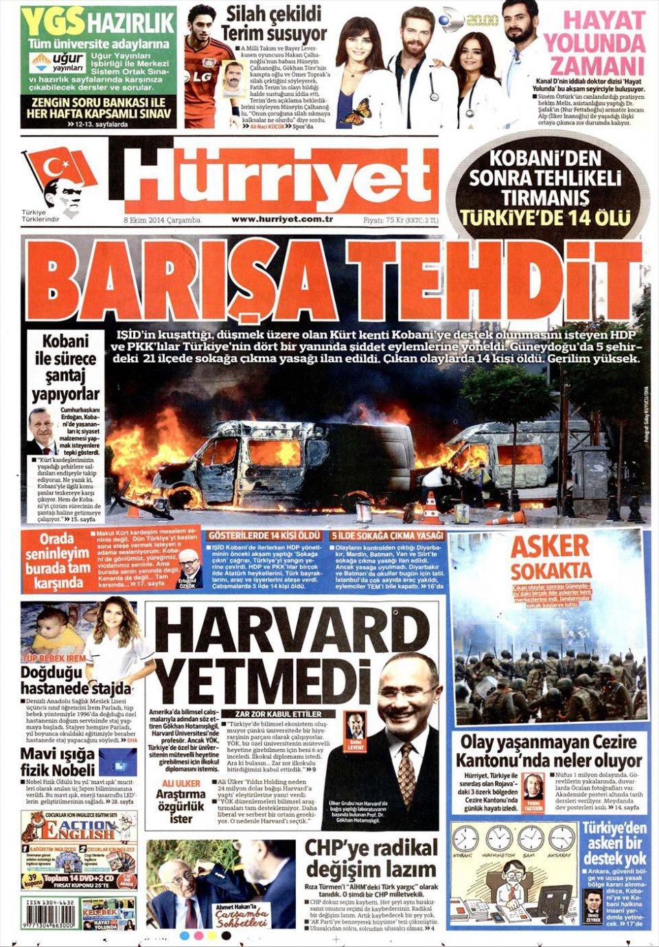 9 Ekim Gazete Manşetleri 9
