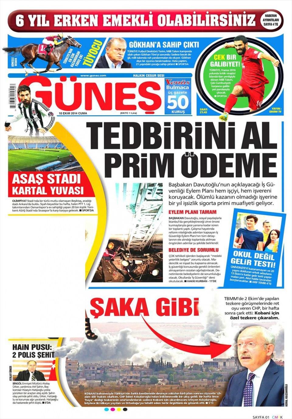 10 Ekim Gazete Manşetleri 18