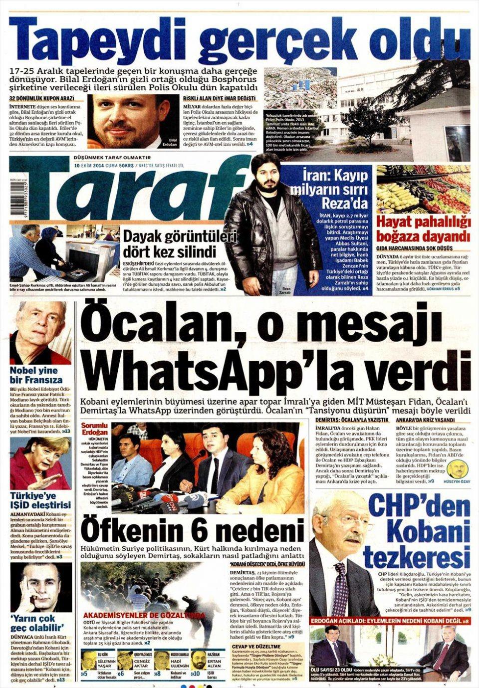 10 Ekim Gazete Manşetleri 7
