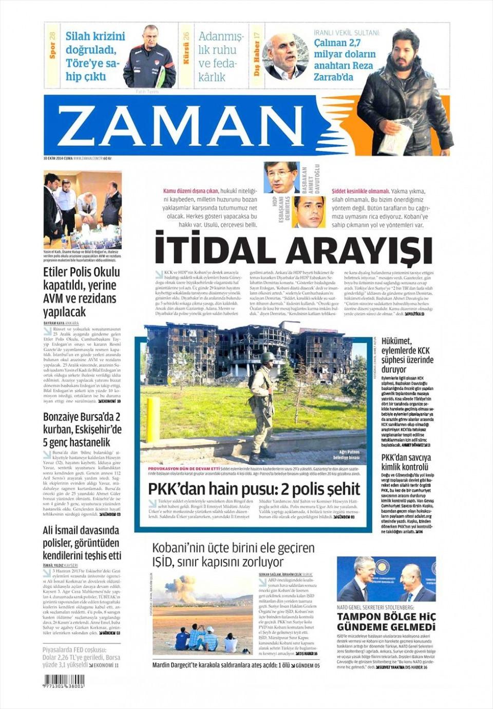 10 Ekim Gazete Manşetleri 8