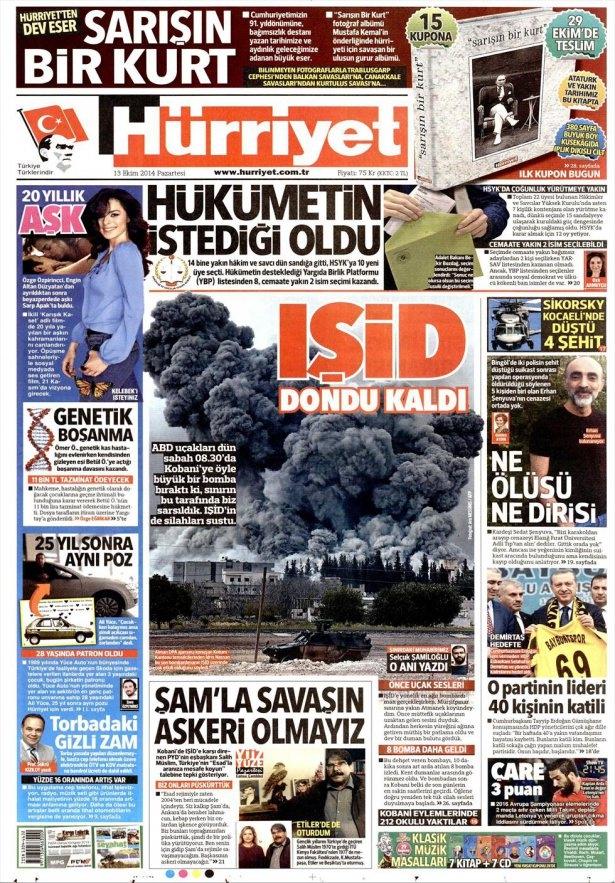 13 Ekim Gazete Manşetleri 11