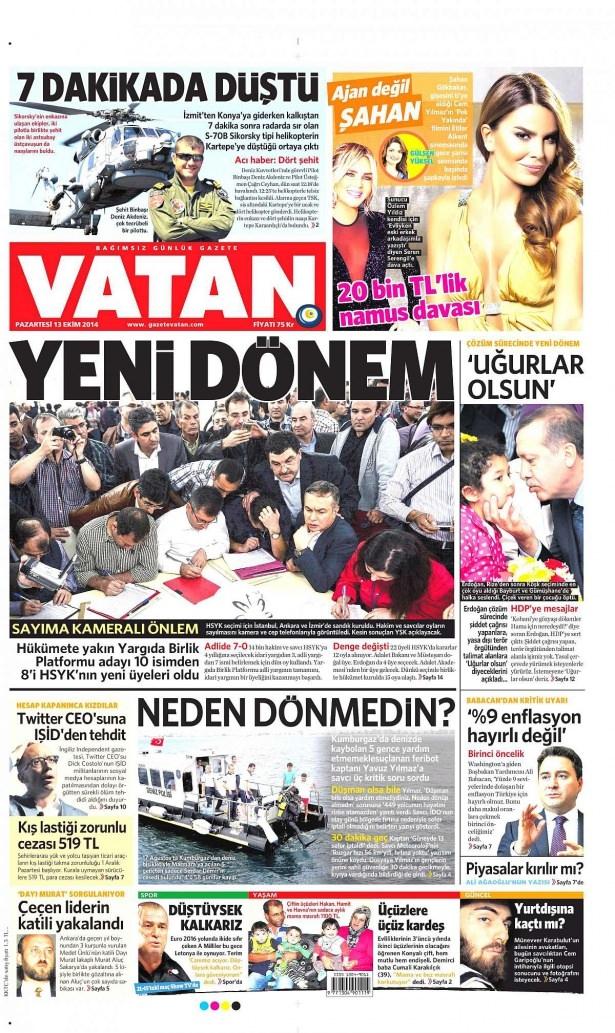 13 Ekim Gazete Manşetleri 20