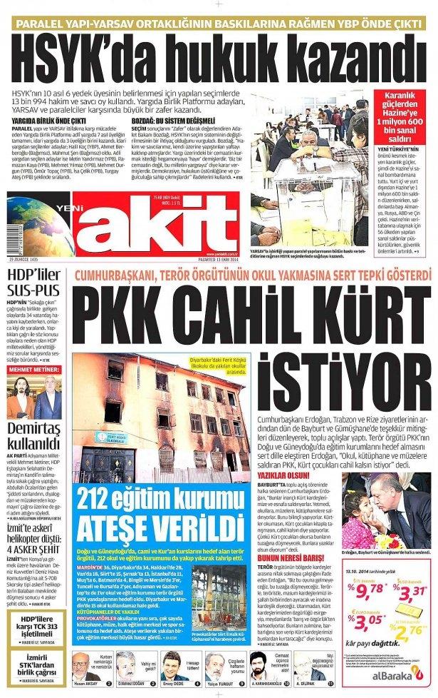 13 Ekim Gazete Manşetleri 21