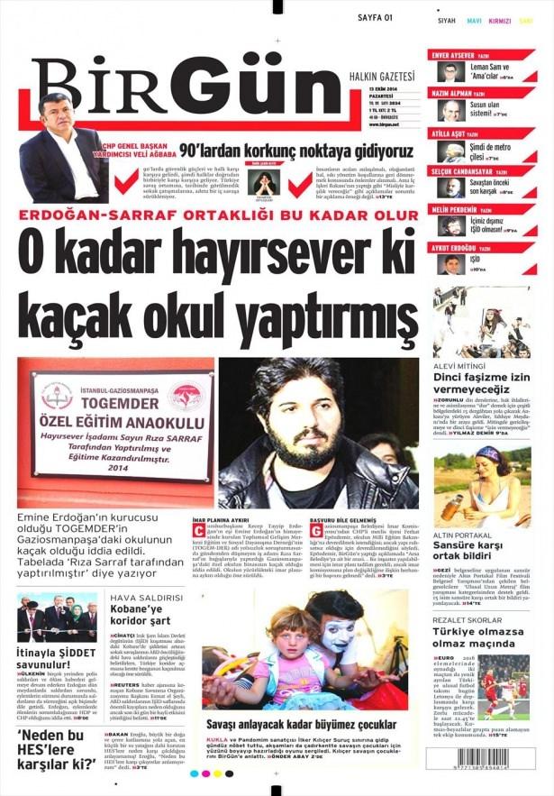 13 Ekim Gazete Manşetleri 3