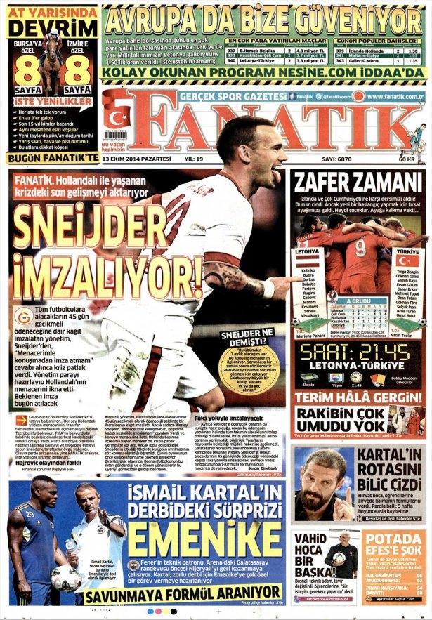13 Ekim Gazete Manşetleri 6