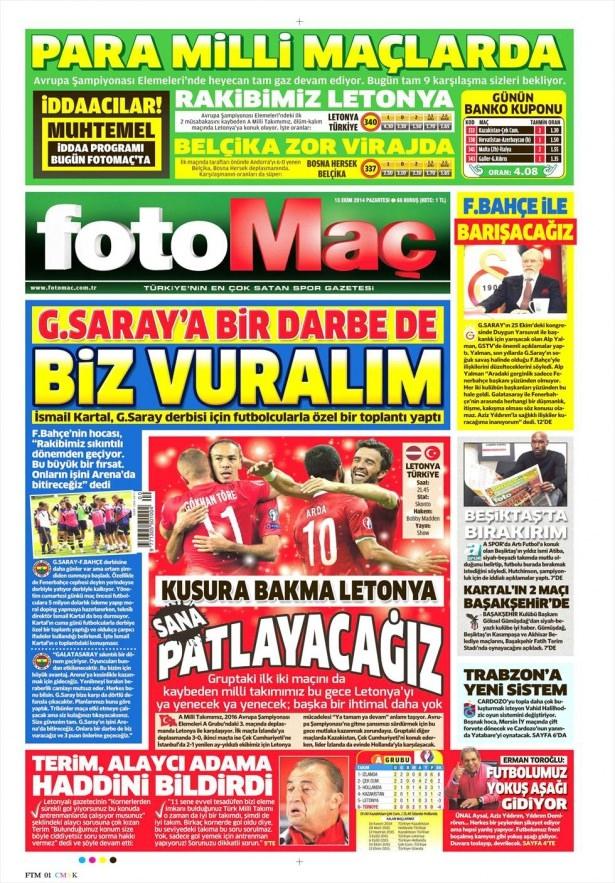 13 Ekim Gazete Manşetleri 7