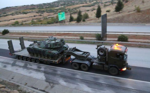 Suriye sınırına tank sevkıyatı! 1