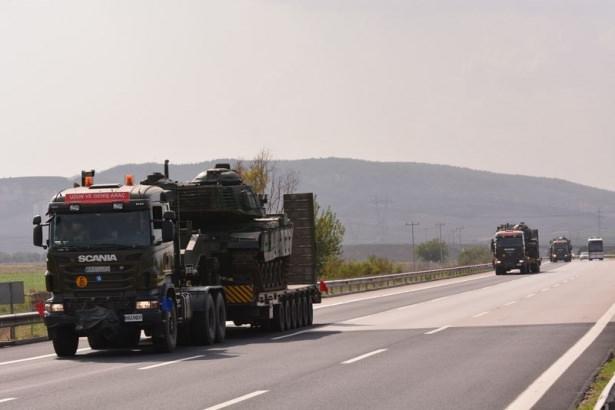 Suriye sınırına tank sevkıyatı! 6