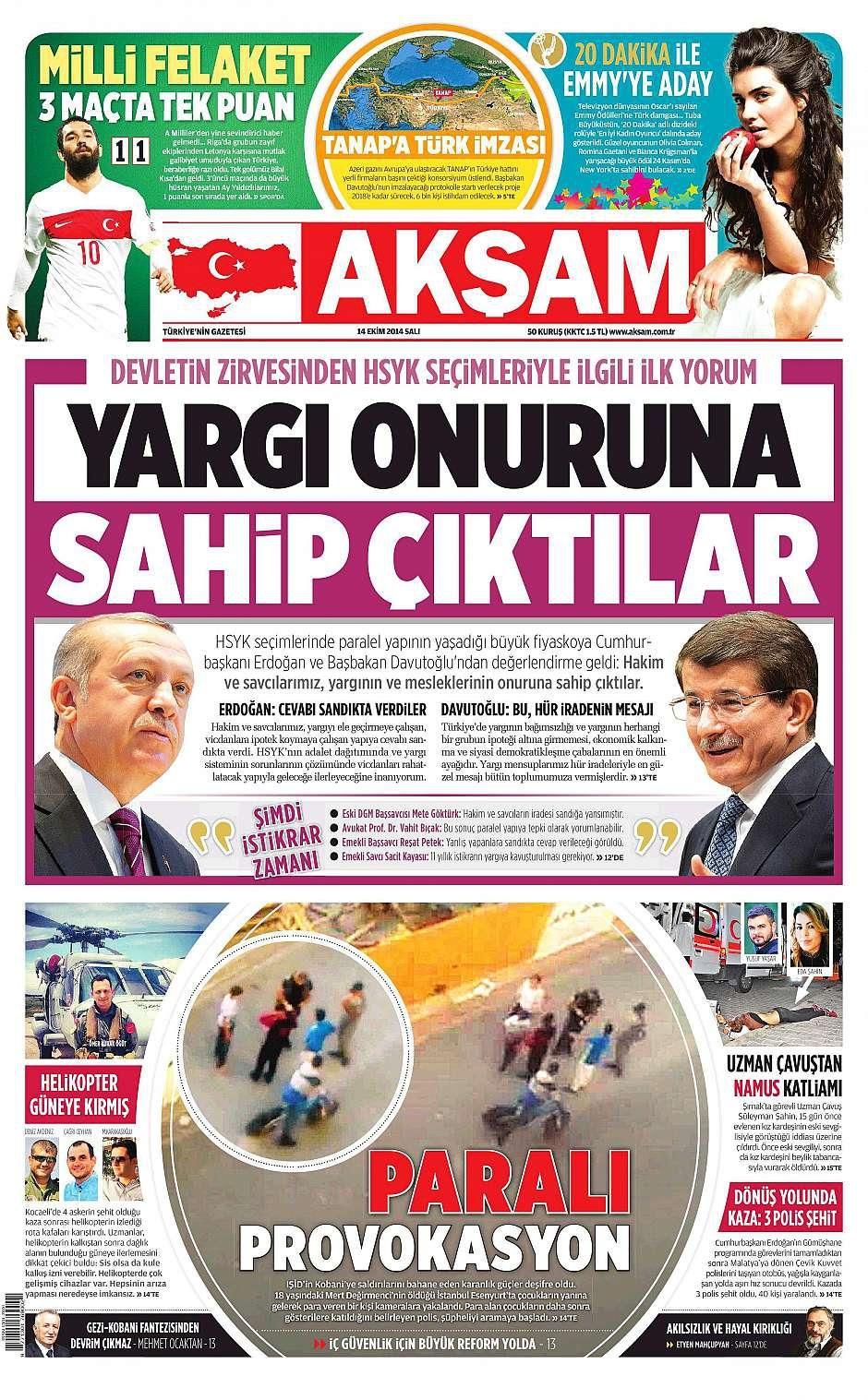14 Ekim 2014 gazete manşetleri 10