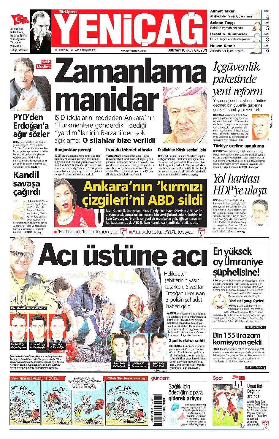 14 Ekim 2014 gazete manşetleri 17