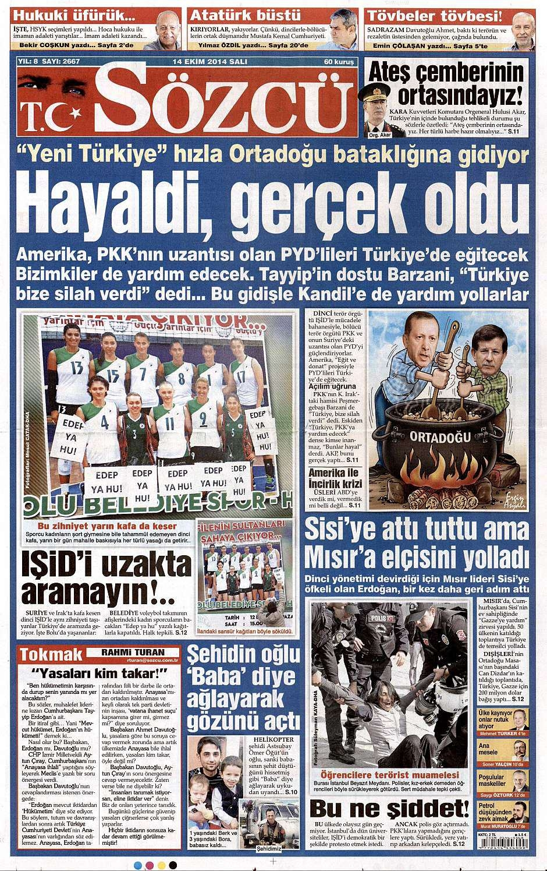 14 Ekim 2014 gazete manşetleri 19