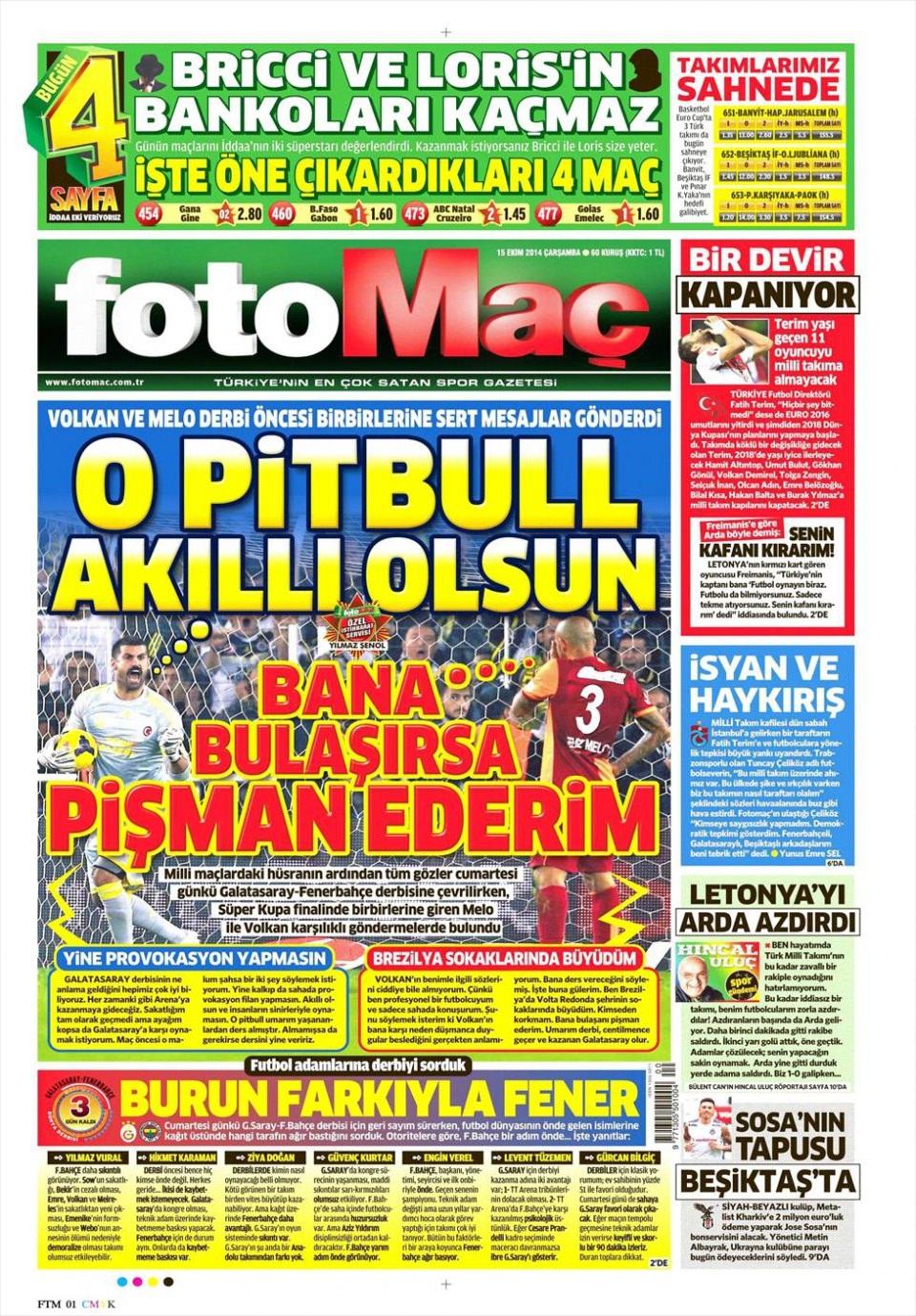 15 Ekim 2015 gazete manşetleri 7