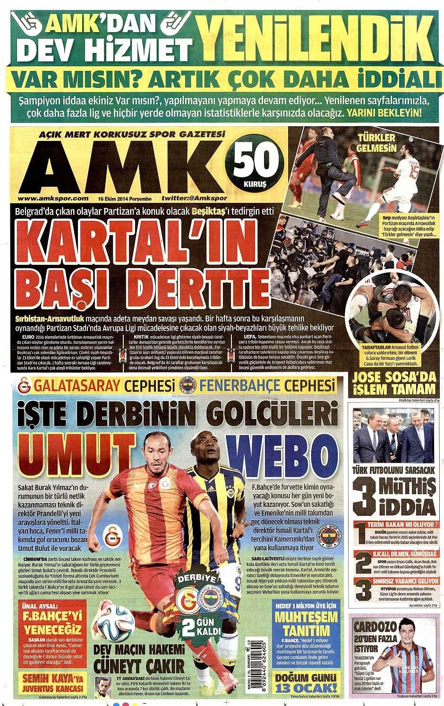 16 Ekim 2014 gazete manşetleri 24