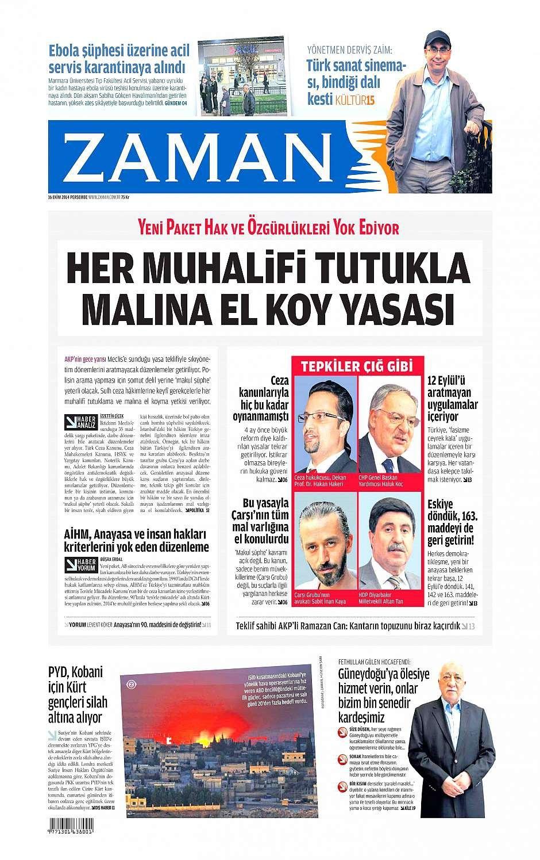 16 Ekim 2014 gazete manşetleri 4